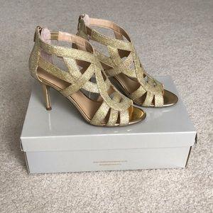 Gold Marc Fisher heels